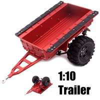 1:10 Scale Aluminum Trailer Ties Diecast Toy Vehicle For TRX4 RC4WD D90 SCX10 Simulation Crawler Toy Children Kids Gifts Red