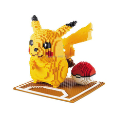 hot LegoINGlys creators anime game cartoon Character Pikachu with poke micro diamond building blocks ball model brick toys gift