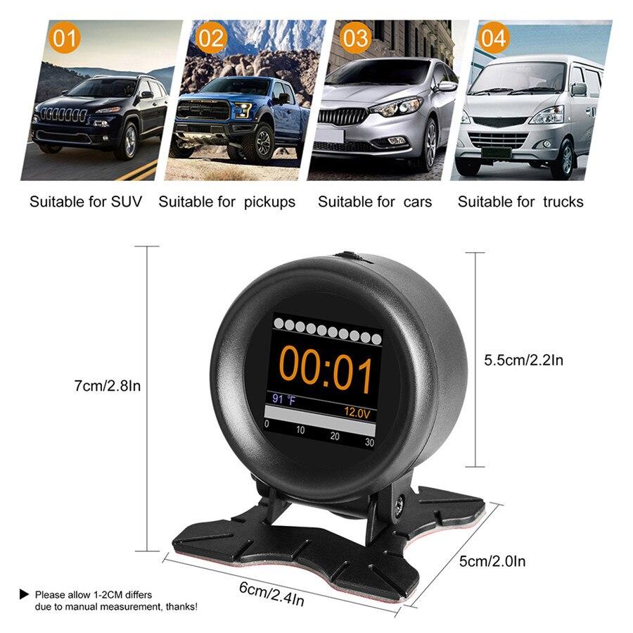 Image 5 - Automobile Trip On board Digital Gauge OBD2 Port Driving Display Speedometer Temperature Gauge