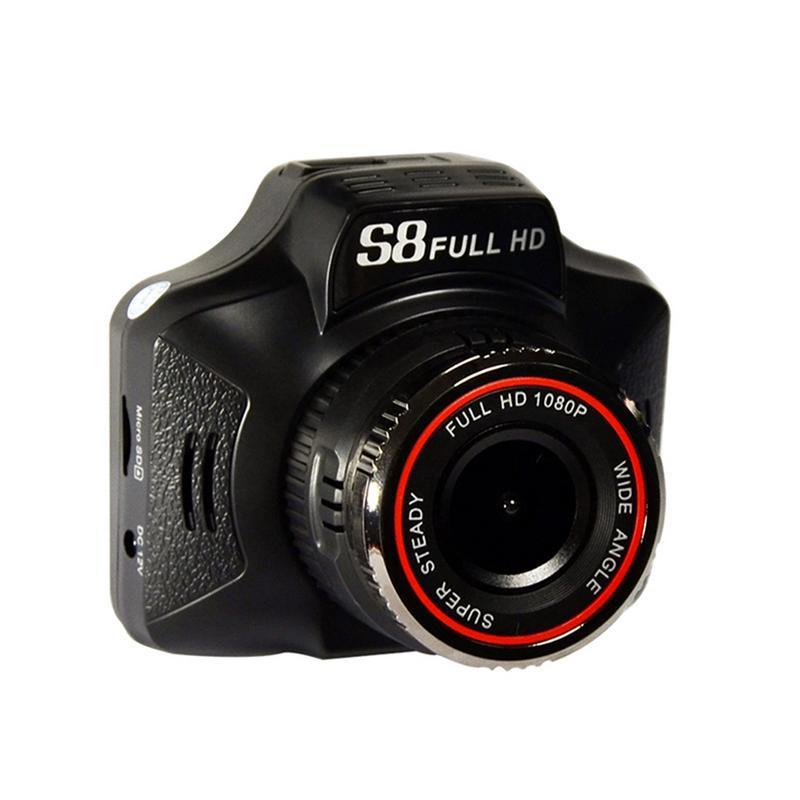 2In1 1080 P enregistreur de conduite de voiture détecteur de Radar compteur de vitesse Mobile avec Vision nocturne HD Len/g-sensor/Navigation GPS/enregistrement sonore