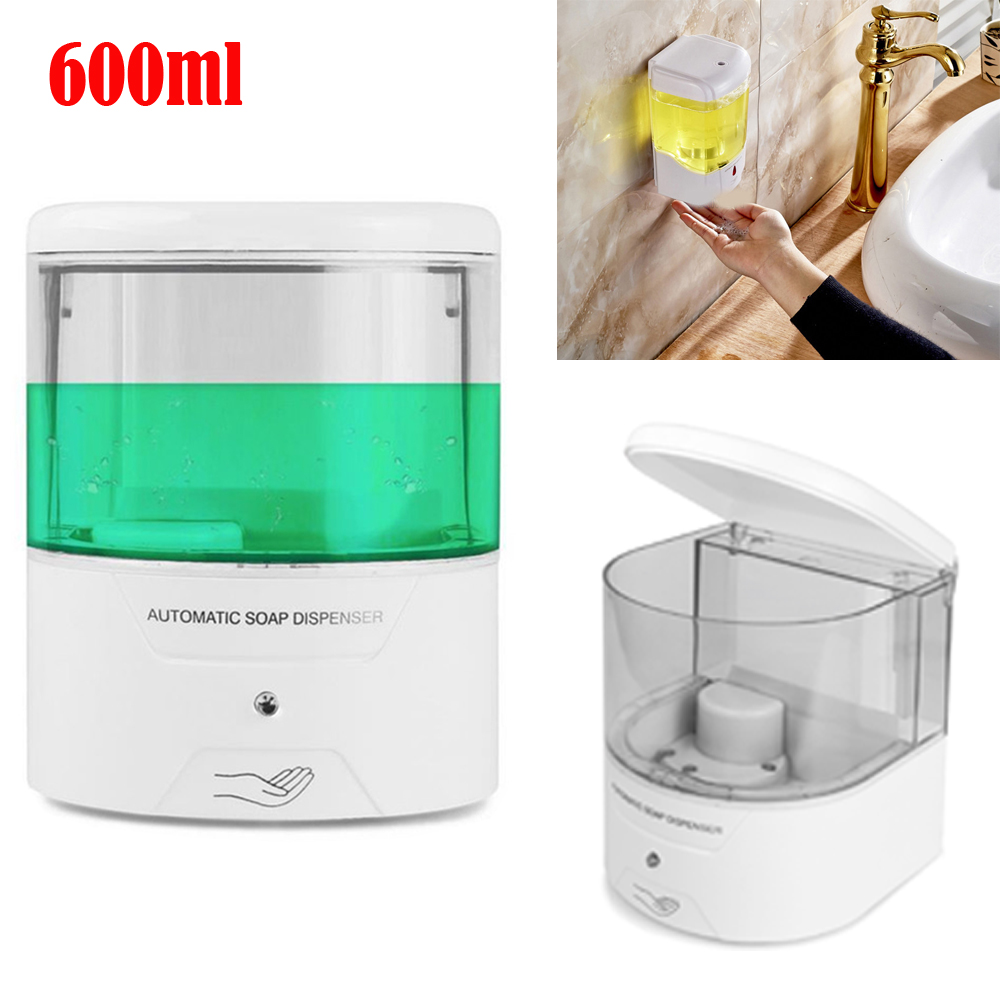 600ML Wall Mounted Soap Dispenser Liquid Hand Wash Home Toilet Loo Bathroom Shower Gel Pump manual pressing Soap dispenser-in Liquid Soap Dispensers from Home Improvement