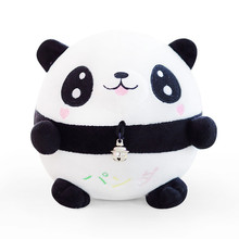 Jumping Cute Animal Panda Ball Stuffed Lovely Doll Musical Tumbler Toy With Packing Children Baby Rattles Mobiles