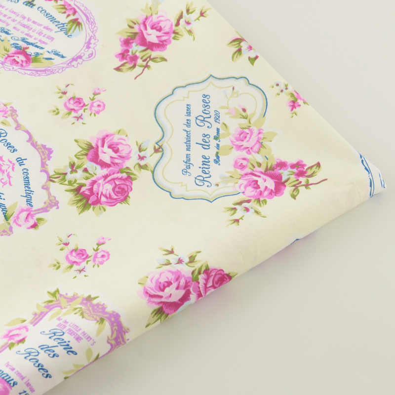 2016 News 100% Cotton Fabric Twill Pink Floral Designs Fabrics Bedding Scrapbooking Decoration Home Textile Quilting Patchwork