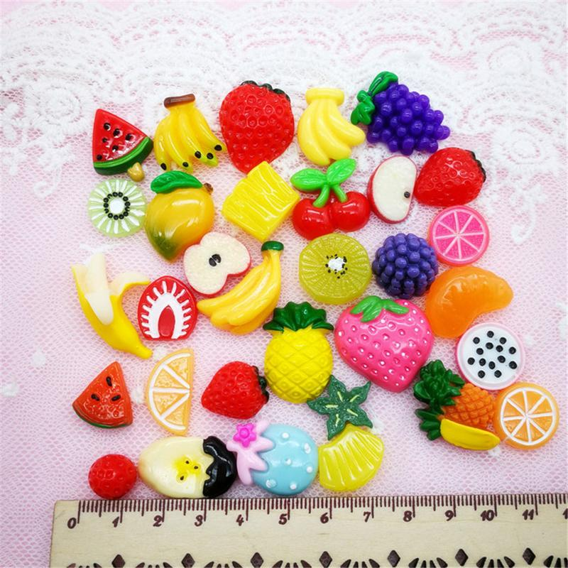 30 Pieces Slime Charms Mixed Fruits And Sweets Candy Slime Beads For Diy Crafts Accessories Scrapbooking Toys & Hobbies Model Building