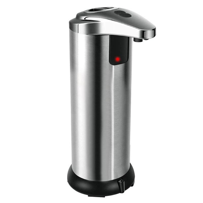 250ml Automatic Soap Dispenser Stainless Steel Sensor Shower Bathroom Kitchen Liquid Bottle Container cleaning accessories gel250ml Automatic Soap Dispenser Stainless Steel Sensor Shower Bathroom Kitchen Liquid Bottle Container cleaning accessories gel