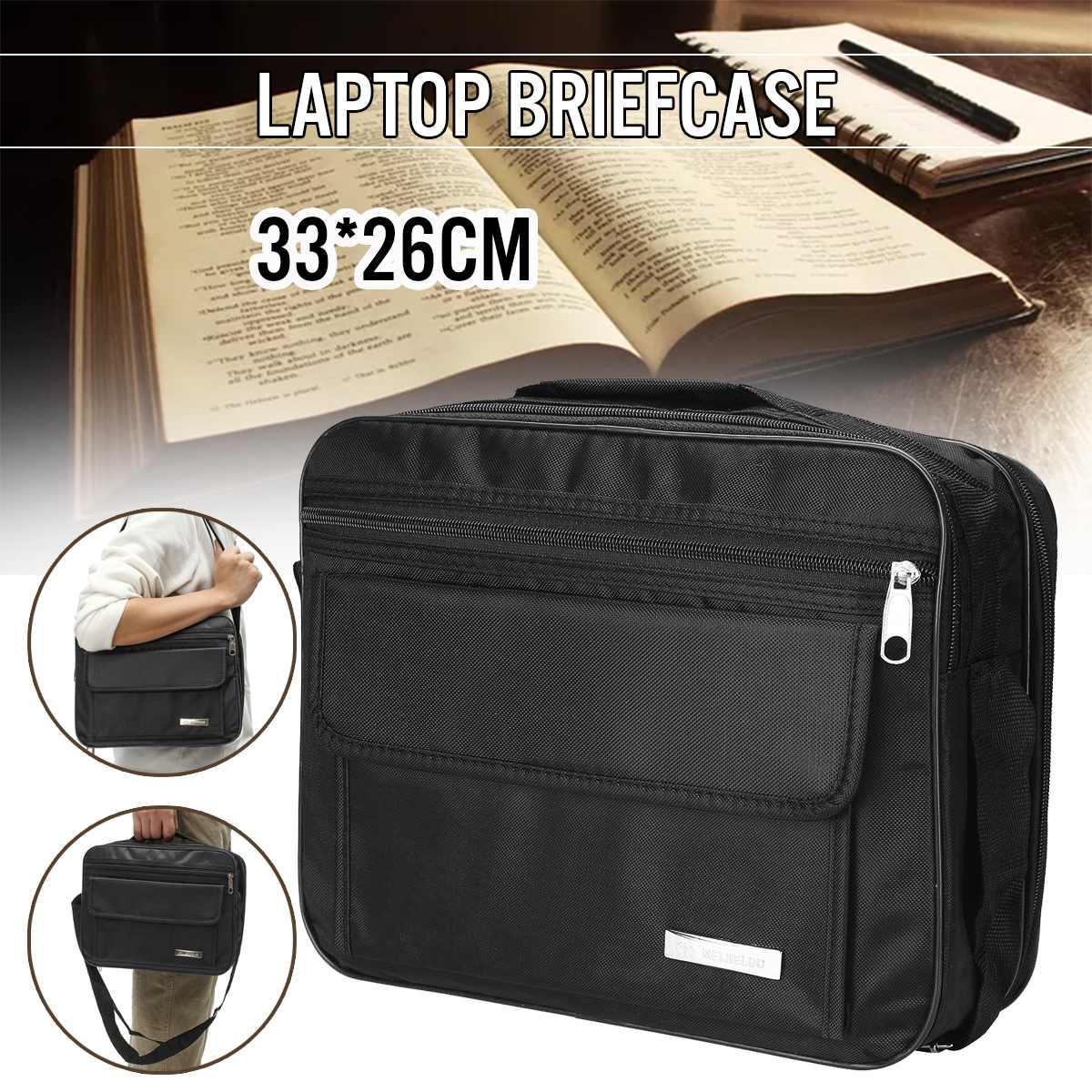 Computer Laptop Bags Business Portable Nylon Computer Handbags Zipper Shoulder Simple Waterproof Laptop Shoulder Handbags Cases