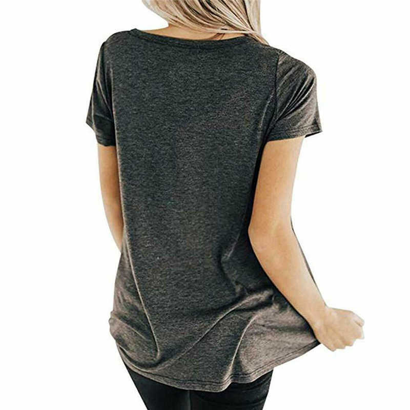 Women 39 s Casual Short Sleeve Top T Shirt Front Chest Cross O neck Short Sleeve in T Shirts from Women 39 s Clothing