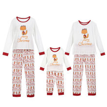 e0f98e251902 Christmas Family Matching Clothes Pajamas Sets FOX Adult Women Kids  Sleepwear Nightwear Winter Warm Family Clothing