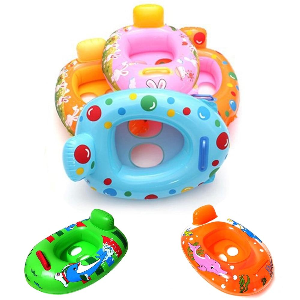 Portable Summer Baby Kids Cartoon Safety Swimming Ring Inflatable Swim Float Water Fun Pool Toys Swim Ring Seat Boat Water Sport