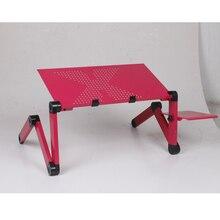 1 Pcs 컴퓨터 책상 조절 접이식 통풍 스탠드 노트북 노트북 무릎 PC 접는 책상 테이블 휴대용 침대 트레이