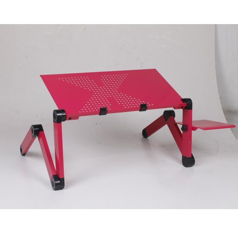 1 piezas escritorios de computadora plegable ajustable ventilación soporte portátil vuelta PC de escritorio plegable Mesa portátil bandeja de cama
