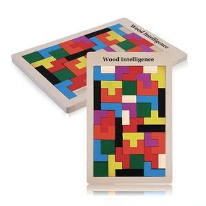 Image 5 - Tangram beyin bulmaca oyuncaklar renkli ahşap oyuncaklar Tetris oyunu okul öncesi Magination entelektüel eğitici oyuncaklar çocuk hediye komik yeni