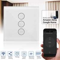 EU US Standard 10A WiFi Smart Shutters Control Touchs Panels Blinds Curtain Wall Switch App Socket Switch for Alexa Google Home