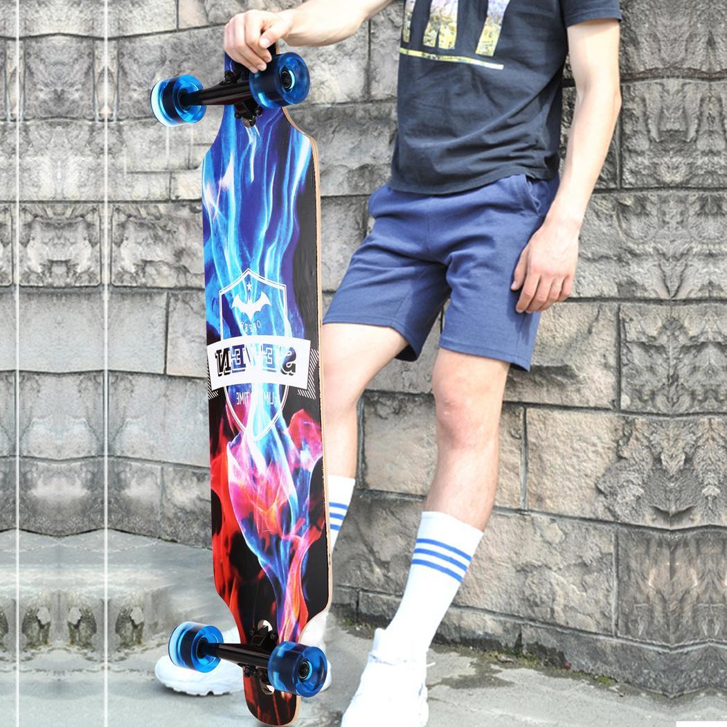Nouveau 41 pouce Érable Canadien de Planche À Roulettes Professionnelle Route Longboard Skate Board 4 Roue Descente Rue Longue Planche