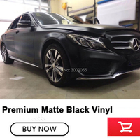 High end super matte black wrapping Film vinyl car wrap Matte black vinyl solvent based low initial tack adhesive Non low end