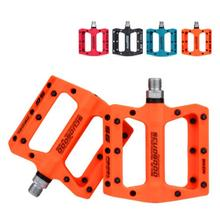 New BMX MTB 1 pair Pedals Nylon Fiber Mountain Bike flat Pedals for Road BMX Bicycle Anti-Skid Pedals Bike Accessories 9/16 inch sm pd22 spd fedals for shimano pedals cleat flat pedals for m520 m540 m780 m980