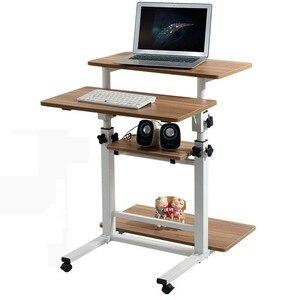 Image 2 - Bureau Meuble Scrivania Tisch Tavolo Para lit pour ordinateur portable Mesa Escritorio support dordinateur portable Table de chevet réglable Bureau dordinateur
