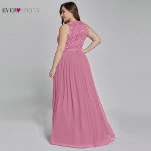 Image 4 - אמא של חתן שמלות בתוספת גודל אי פעם די אלגנטי קו O צוואר חרוזים תחרה ארוכה פורמליות שמלות המפלגה עבור חתונה 2020
