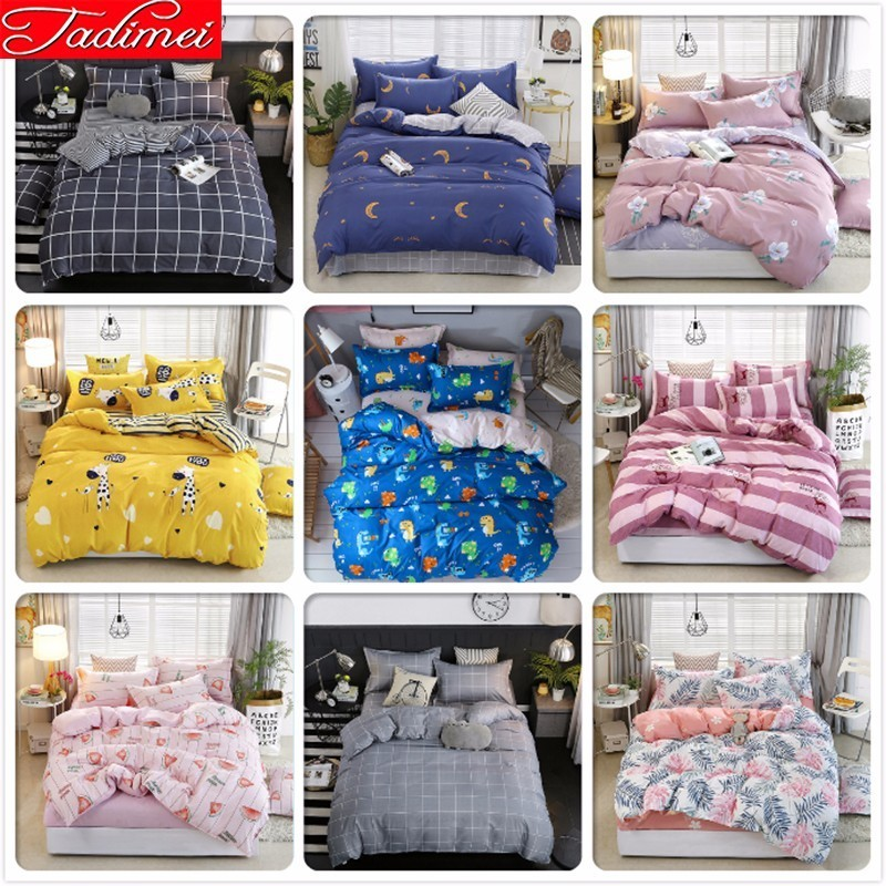 Single Twin Full Double Queen King Size Duvet Cover Bedding Set Adult Kids Child Soft Cotton Bed Linen Bedspread 150x200 180x220