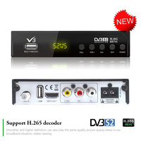 Koqit V5 Free Satellite Receiver DVB S2 H.265 Digital Tv set top box finder Wifi Biss Powervu Youtube Internet Receptor Decoder
