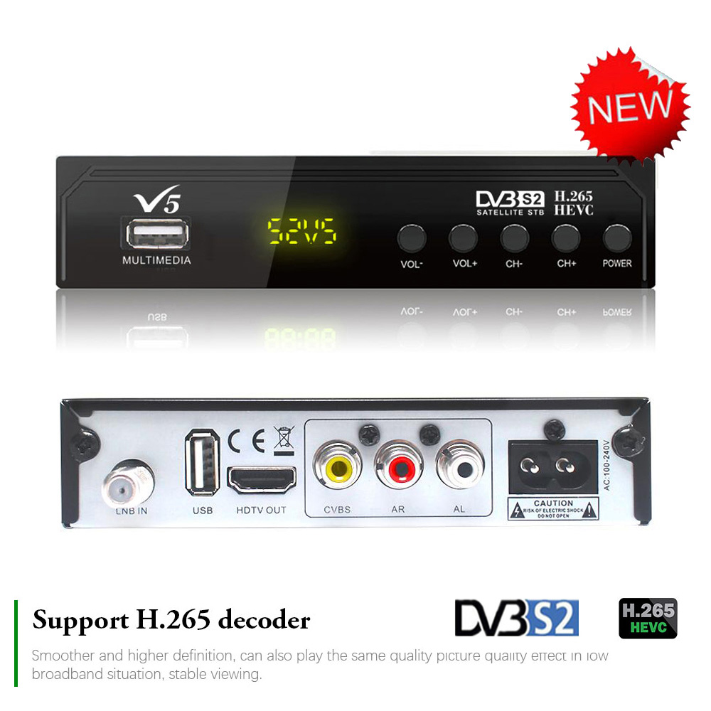 Koqit v5 livre receptor de satélite DVB-S2 h.265 tv digital conjunto-topo caixa finder wifi biss powervu youtube receptor de internet decodificador