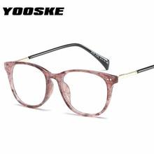 610be9b0cfa YOOSKE Women Men Glasses Frame Fashion Fake Glasses Spectacles Eyeglasses  Frame Vintage Brand Designer Clear Lens