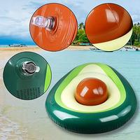 Inflatable Avocado Swimming Ring Pool Float Summer Beach Swimming Float Ball Beach Toy For Kids Adults