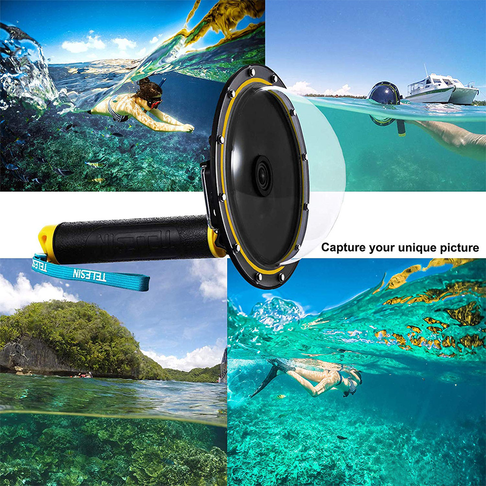 Image 4 - Durable Diving Kits Lens Cover Dome Port PC Waterproof Housing Floating Snorkeling Photography Accessories For GoPro Hero 7/6/5-in Sports Camcorder Cases from Consumer Electronics