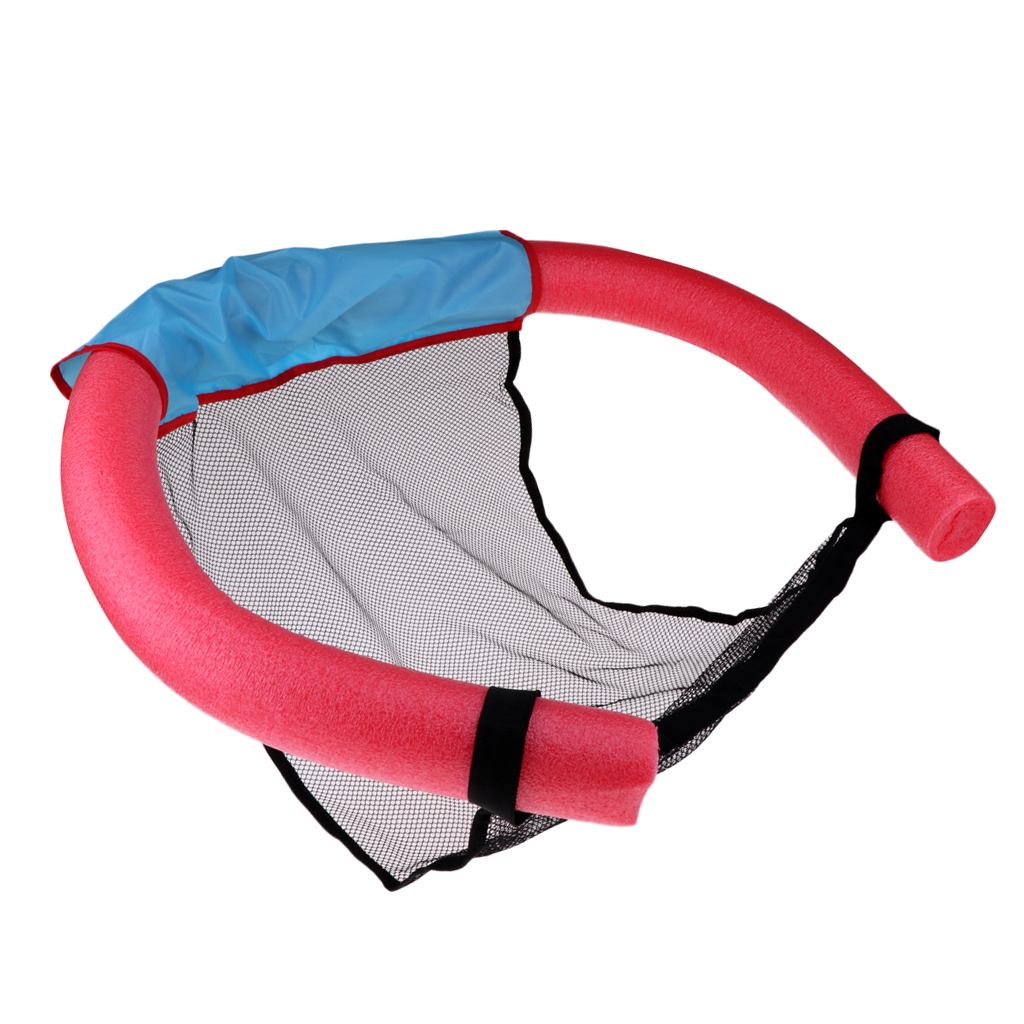 Summer Floating Beach Pool Bed Chair Sling Stick Mesh Net Seat For Kids Adults
