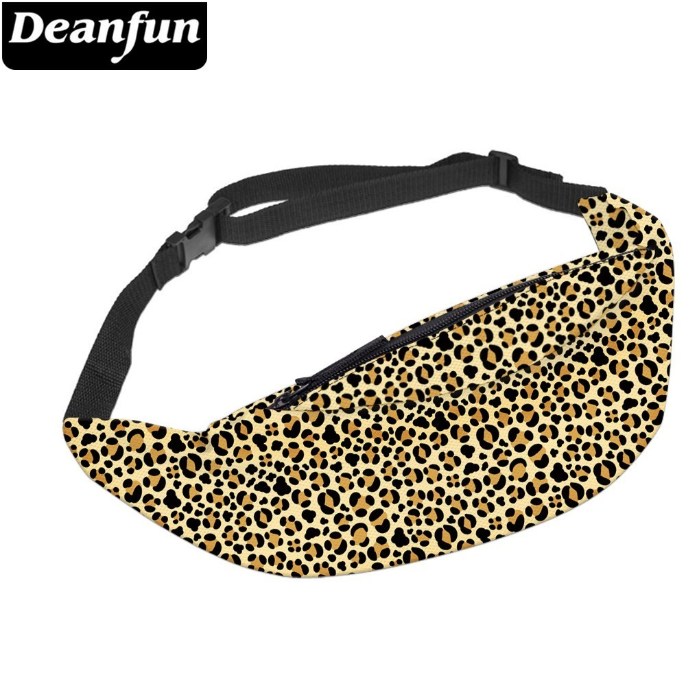 Deanfun Classic Leopard Waist Pack Waterproof Fanny Pack Adjustable Belt Bag Hip Bum Bag Pouch for Travel YB 33 in Waist Packs from Luggage Bags