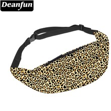 Deanfun Classic Leopard Waist Pack Waterproof Fanny Adjustable Belt Bag Hip Bum Pouch for Travel  YB-33