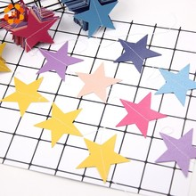 6PCS/Lot Colorful Star Paper Garlands Wedding Party Wall Hanging String Chain Banner DIY Children Room Home Birthday Decoration