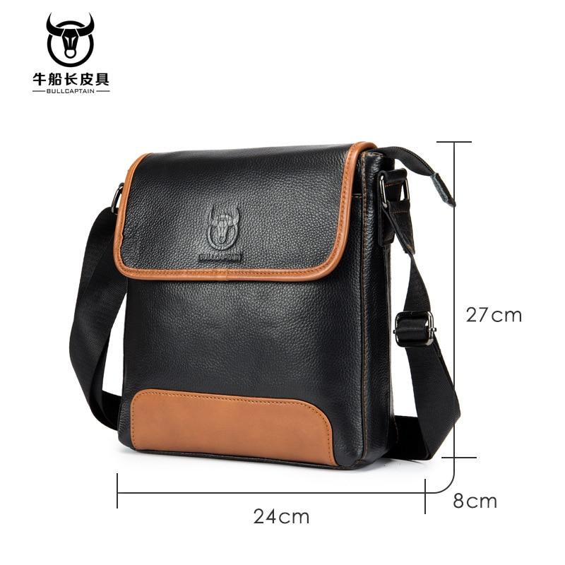 Image 2 - Cow Genuine Leather Messenger Bags Men Travel Business Crossbody  Shoulder Bag for Man Handbags Messenger Small Men Cow LeatherCrossbody  Bags