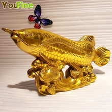 Chinese Feng Shui lucky bronze fish best business gifts home decorations