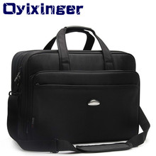 Large Capacity 17 Inch Laptop Briefcases Men Black Waterproof Notebook Bags Male Travel Shoulder Bag For MacBook Hp Dell Lenovo