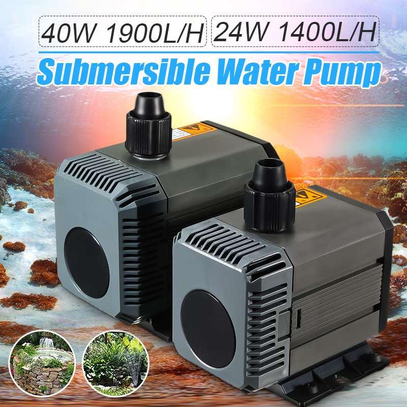 24W/40W 220 240V Ultra quiet Submersible Water Pump Aquarium Fish Tank Ponds Pool Fountain Purifier Circulation Water Pump