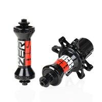 KOOZER RS330 Hubs Aluminum 2+4Bearing 72HD Front Rear 20/24 Hub Set Road Racing Bike Front Hub Rear hub Straight Pull Black/Red