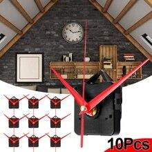 10 шт 5 шт. красный руки DIY кварцевые черные механизм настенных часов запчасти механизма комплект Замена необходимые инструменты