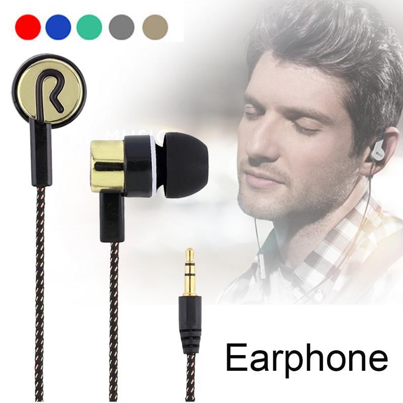 In-Ear Stereo Earphone Fashionable Braided Wire Headset #AO