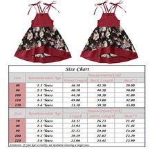 Kids Baby Girls Flowers Dress Red Set