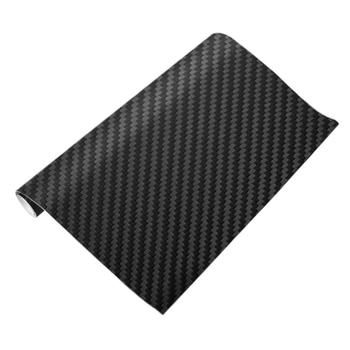 VODOOL 3D Carbon Fiber Vinyl Car Sticker Car Wrap Sheet Roll Film Motorcycle Decals Car Styling Interior Accessories 127cmx30cm image