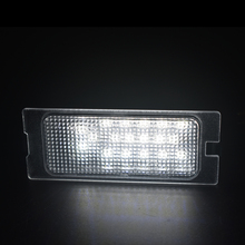 2x 18SMD White car license light car styling For Ford Edge 07-14 Escape 08-12 Mercury Mariner Led number license plate light