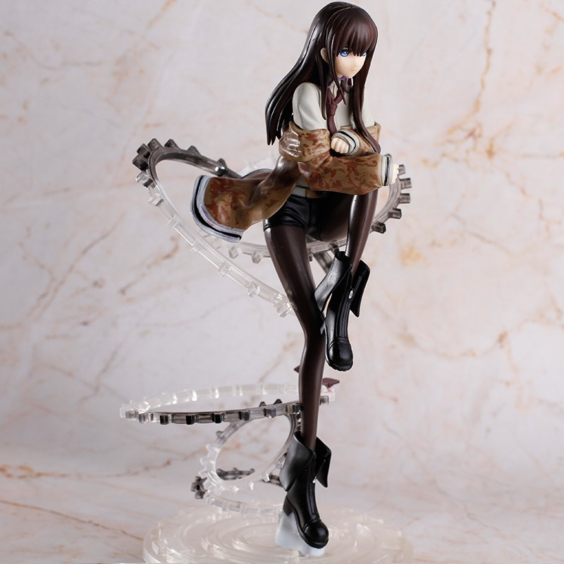 Anime Figure 21 Cm Steins Gate Makise Kurisu 1/8 Scale Figurine Pvc Action Figure Collection Model Toy BANPRESTO Christmas Gift