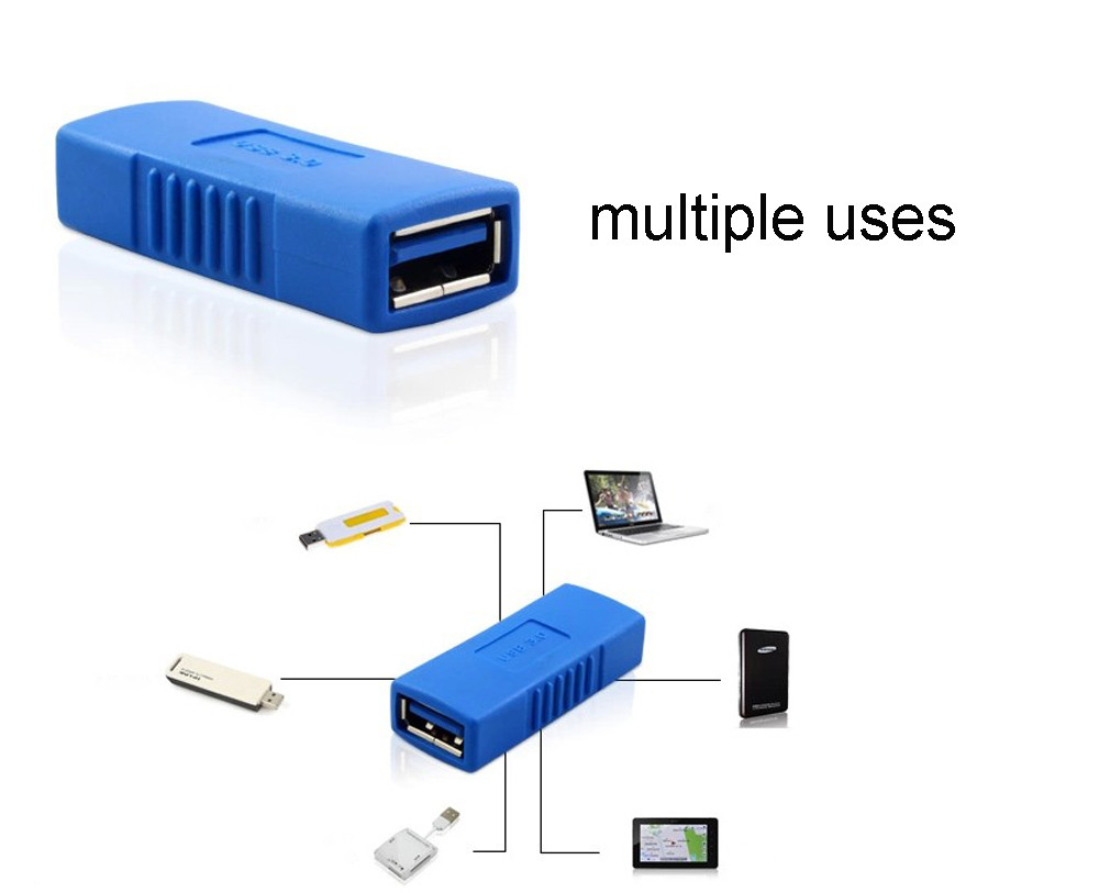 USB 3.0 Type A Female To Female Adapter Coupler Gender Changer Connector To Create A Longer Cable Drop Shipping