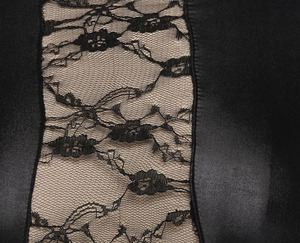 Image 5 - Mode Sexy dentelle noire Wetlook robe chaussures en faux cuir pour femmes gothique à manches longues moulante fétiche Clubwear Sexy danse Club robes