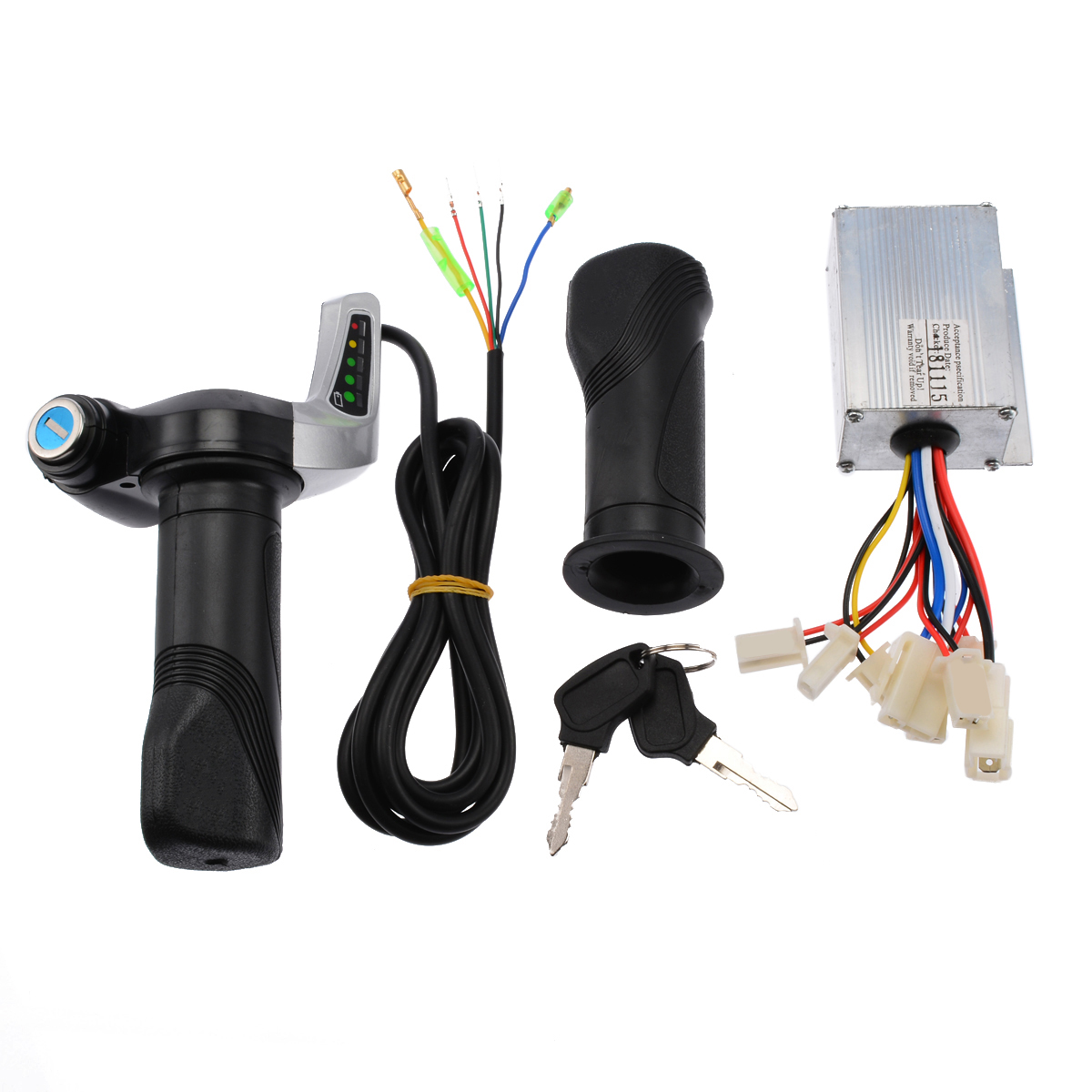 New Electric Scooter Accessories Motor Brushed Controller Throttle Twist Grip 24V 250W For Electric Scooter Bicycle Bike in Electric Bicycle Accessories from Sports Entertainment
