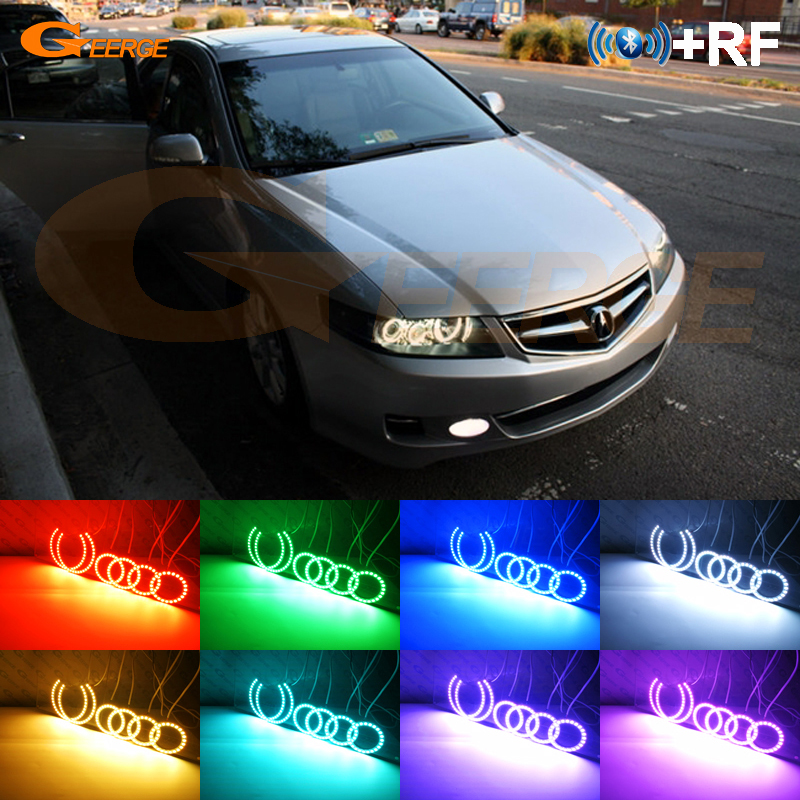 For ACURA TSX CL9 2004 2005 2006 2007 2008 Excellent RF Bluetooth Controller Multi-Color Ultra bright RGB LED Angel Eyes kitFor ACURA TSX CL9 2004 2005 2006 2007 2008 Excellent RF Bluetooth Controller Multi-Color Ultra bright RGB LED Angel Eyes kit