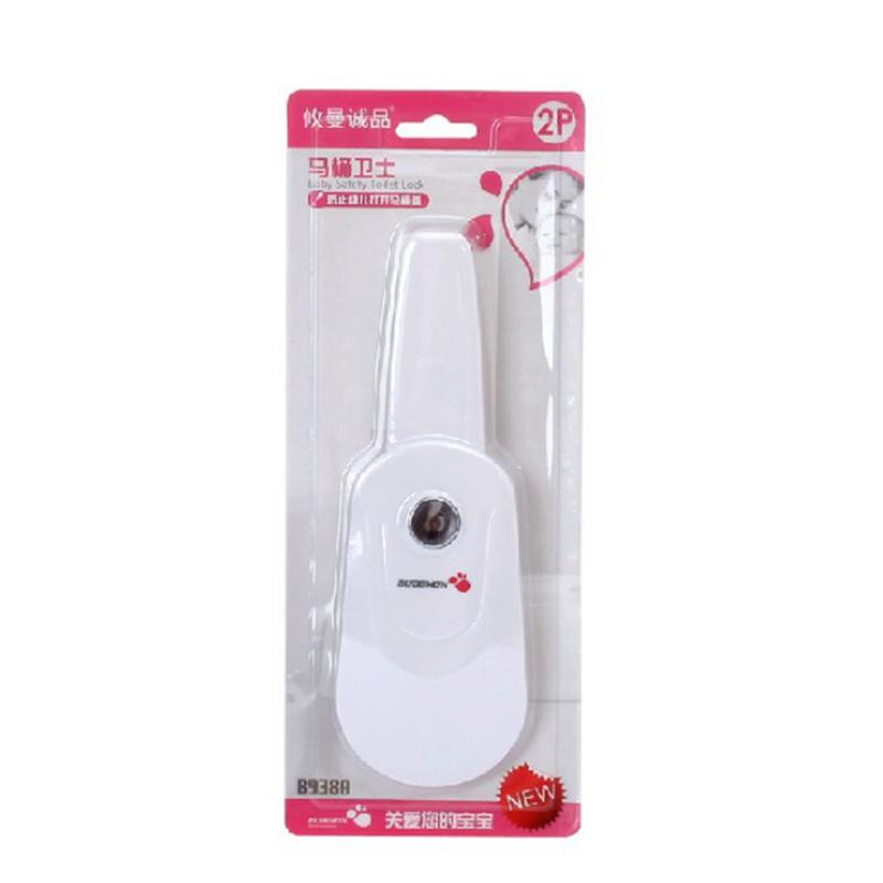 Universal Toilet Lid Lock <font><b>Baby</b></font> <font><b>Proof</b></font> Safety Toilet Lid Lock No Tools Needed Easy Installation Children Safety <font><b>Products</b></font> For 0-6M image