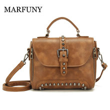 цены Vintage Crossbody Bags For Women 2019 Women Messenger Bags Leather Handbags Shoulder Vintage Bag Female Bolsas Feminina Mujer