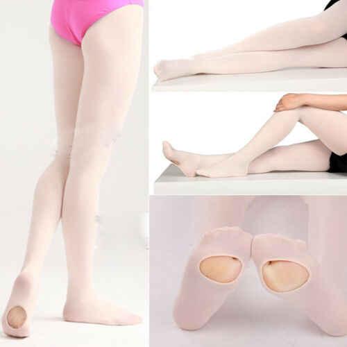PUDCOCO 最新ポップマチスリムダンスストッキングバレエストッキングダンスウェア子供アダルト KJ 綿スーツ